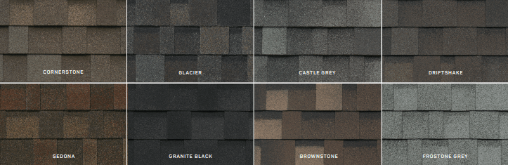shingle colors from Summit Roofing Solutions LLC